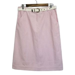 D.K.GOLD by Donnkenny Pink and White Striped Skirt